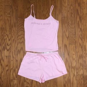 Victoria's Secret Tank Top and Short Sleep Set